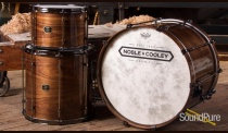 Noble & Cooley 3pc Walnut Ply Drum Set-Natural Gloss