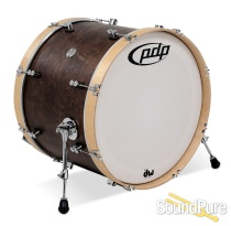 PDP 16x22 Concept Classic Wood Hoop Bass Drum Walnut Stain