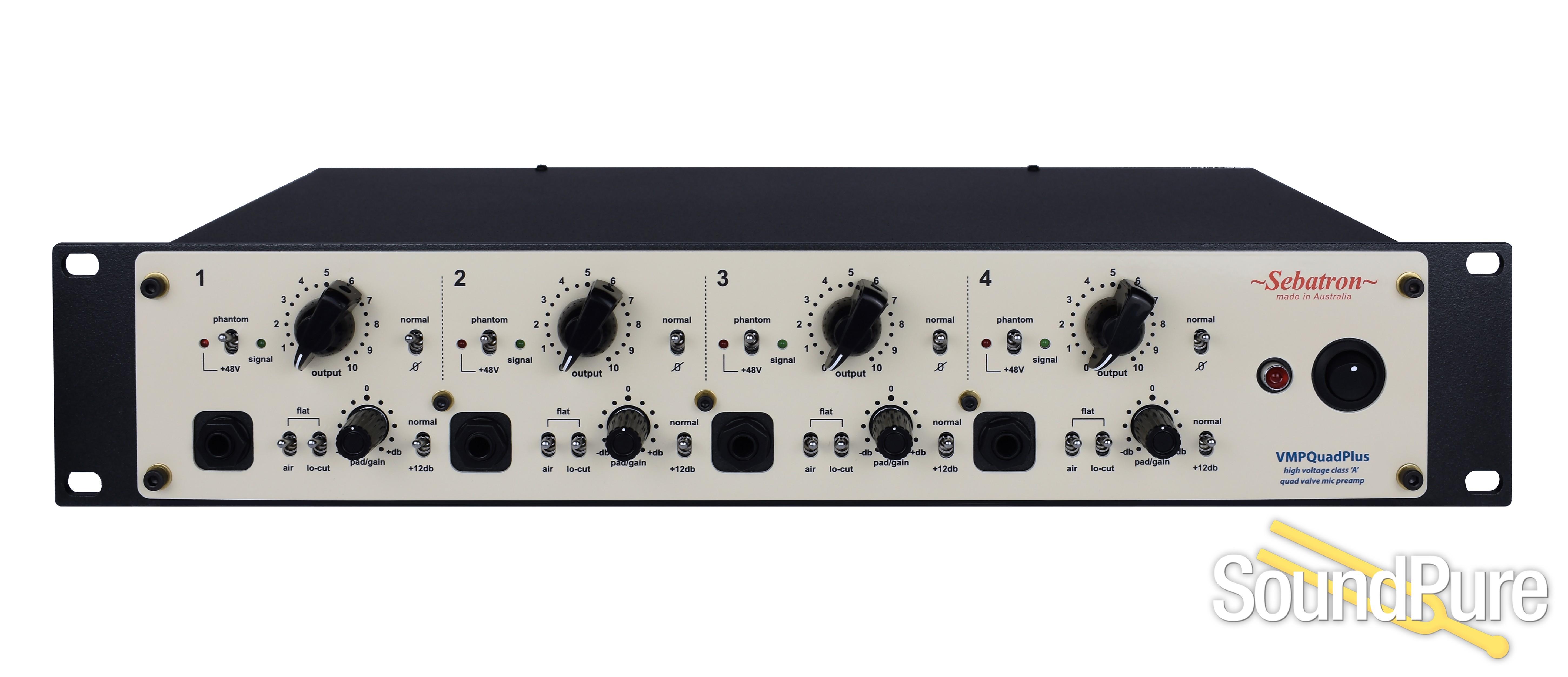 Sebatron VMPQuadPlus 4 Channel Tube Mic Pre | Soundpure com