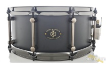 Noble & Cooley 6x14 Alloy Classic Snare Drum-Black-Flanged