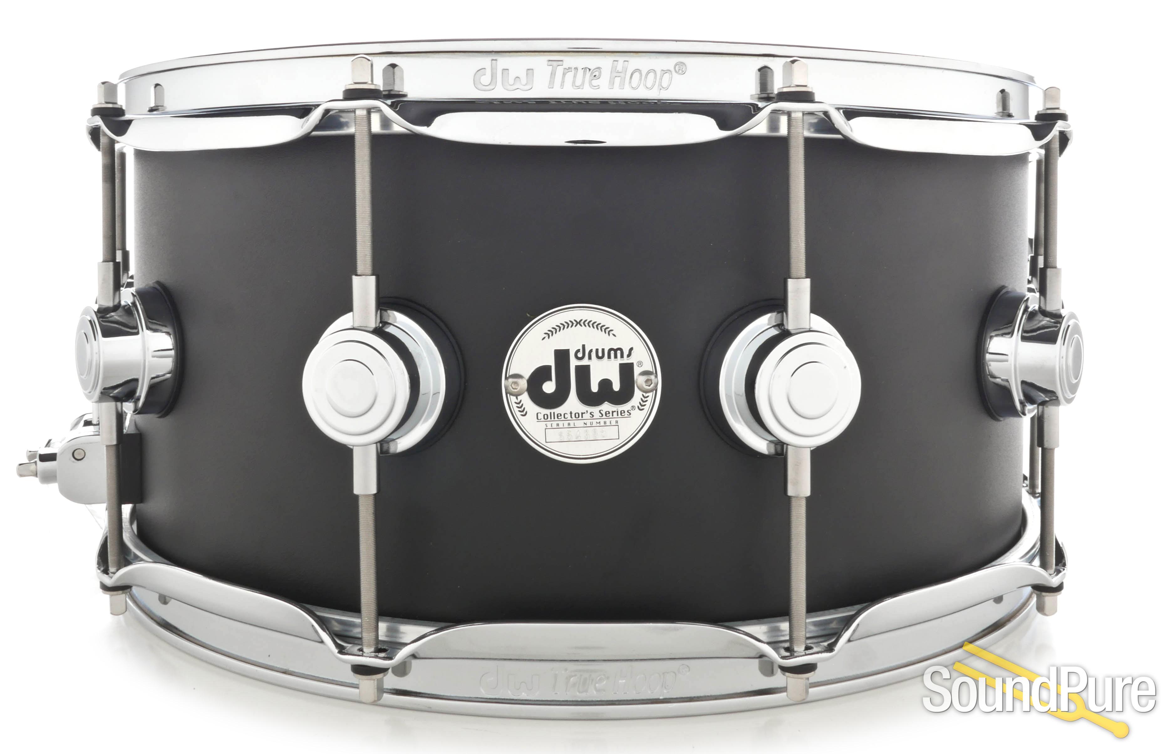 DW 6.5x14 Collectors Solid Aluminum Snare Drum-Black