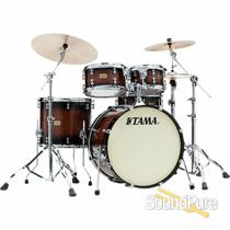 Tama 5pc S.L.P. Dynamic Kapur Drum Set-Black Kapur Burst