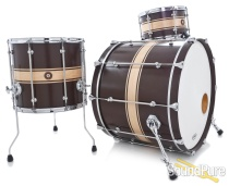 Anchor Drums 3pc Galleon Maple Drum Set-Classic Stripe