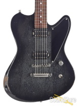 Luxxtone Calavera Black Dog Hair Burst Electric Guitar #236
