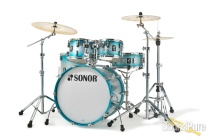Sonor 5pc AQ2 Studio Drum Set - Aqua Silver Burst