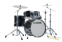 Sonor 5pc AQ2 Stage Drum Set - Transparent Black