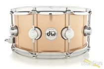 DW 6.5x14 Collectors Heavy Bell Bronze Snare Drum - Knurled