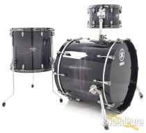 Yamaha 3pc Live Custom Drum Set - Black Shadow Sunburst