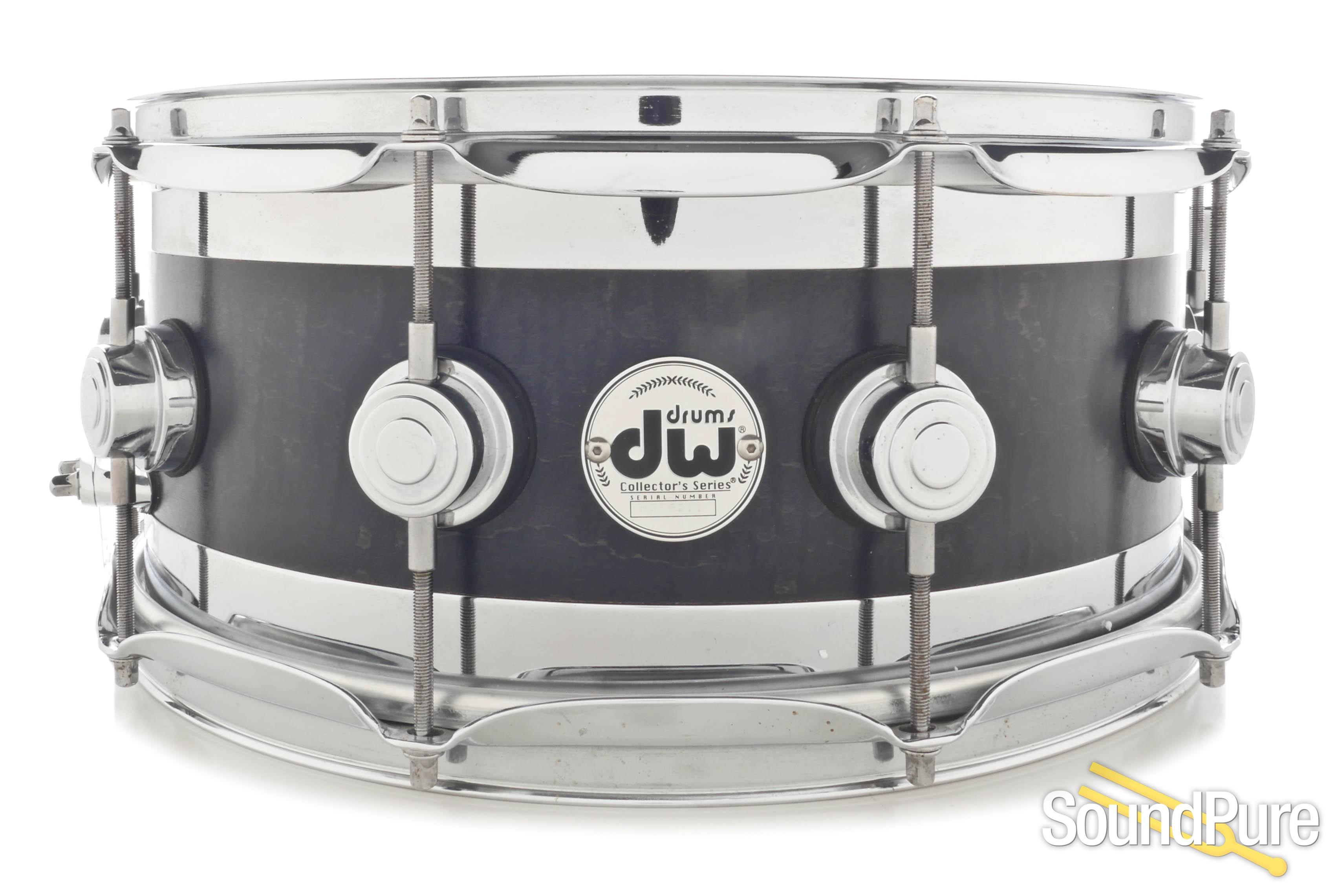 DW 6x14 Collector\'s Edge Snare Drum - Ebony Satin
