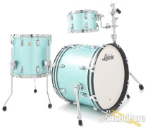 Ludwig 3pc Classic Maple Drum Set - Turquoise Sparkle