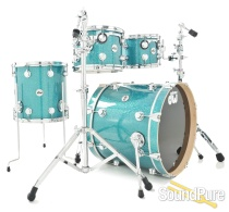 DW 4pc Collectors Series Maple Drum Set - Teal Glass Glitter