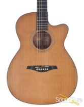 Beneteau Cedar/Figured Koa OM Cutaway Acoustic #041200 -Used
