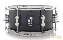 Sonor 6x13 AQ2 Maple Snare Drum - Transparent Black