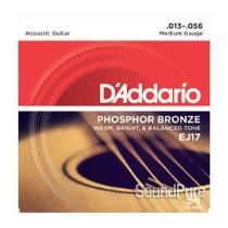D'Addario EJ17 Phosphor Bronze Medium 13-56 Acoustic Strings
