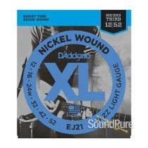 D'Addario EJ21 XL Nickel Jazz Light 12-52 Guitar Strings
