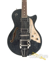 Duesenberg Starplayer TV Black Sparkle Semi-Hollow #182061