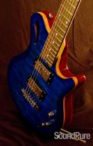Gadow Custom Hollow Blue Burst Electric Guitar