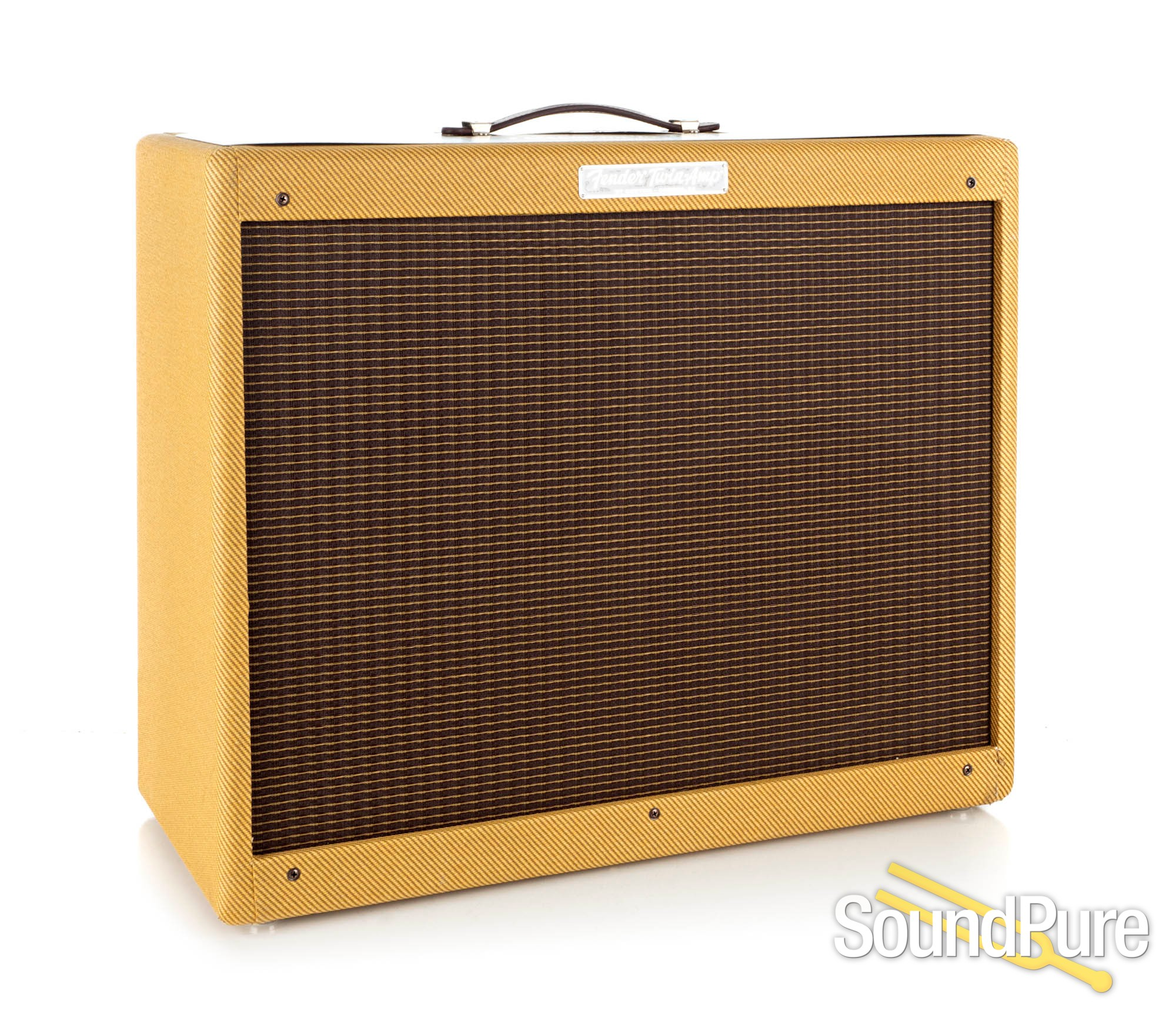 fender 39 57 custom twin 2x12 40w combo amp used. Black Bedroom Furniture Sets. Home Design Ideas