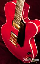 Benedetto Bravo Semi-Hollow One-Off Cherry Archtop Guitar
