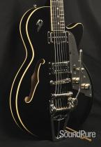 Duesenberg Starplayer TV+ Black Semi-Hollow Electric Guitar