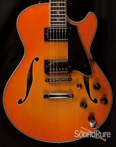 Comins GCS-1ES Tangerine Burst Semi-Hollow Guitar