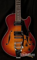 Comins GCS-1 Bigsby Violin Burst Semi-Hollow Guitar