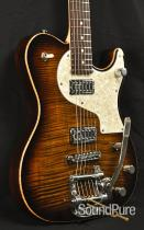 Melancon Cajun Gentleman Tiger Eye Burst Semi-Hollow Guitar