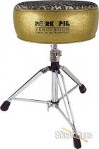 Pork Pie Percussion Round Drum Throne-Gold/Leopard