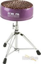 Pork Pie Percussion Round Drum Throne-Purple/Leopard
