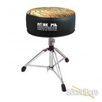 Pork Pie Percussion Round Drum Throne-Black/Tiger
