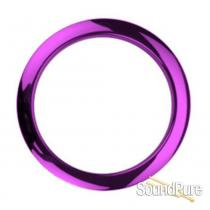 "Bass Drum O's 4"" Purple Chrome Bass Drum Port Rings"