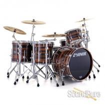 Sonor 5pc Ascent Stage 3 Drum Set No Mount- Ebony Stripes