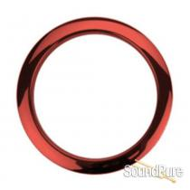 "Bass Drum O's 4"" Red Chrome Bass Drum Port Rings"