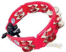 LP Cyclops Jingle Tambourine - Steel/Red/Mountable