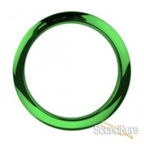 "Bass Drum O's 4"" Green Chrome Bass Drum Port Rings"