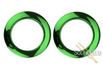 "Bass Drum O's 2"" Green Chrome Bass Drum Rings 2 Pack"