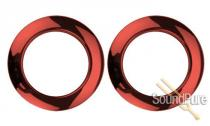 "Bass Drum O's 2"" Red Chrome Bass Drum Rings 2 Pack"