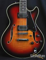 Comins GCS-1 Autumn Burst Semi-Hollow Electric Guitar