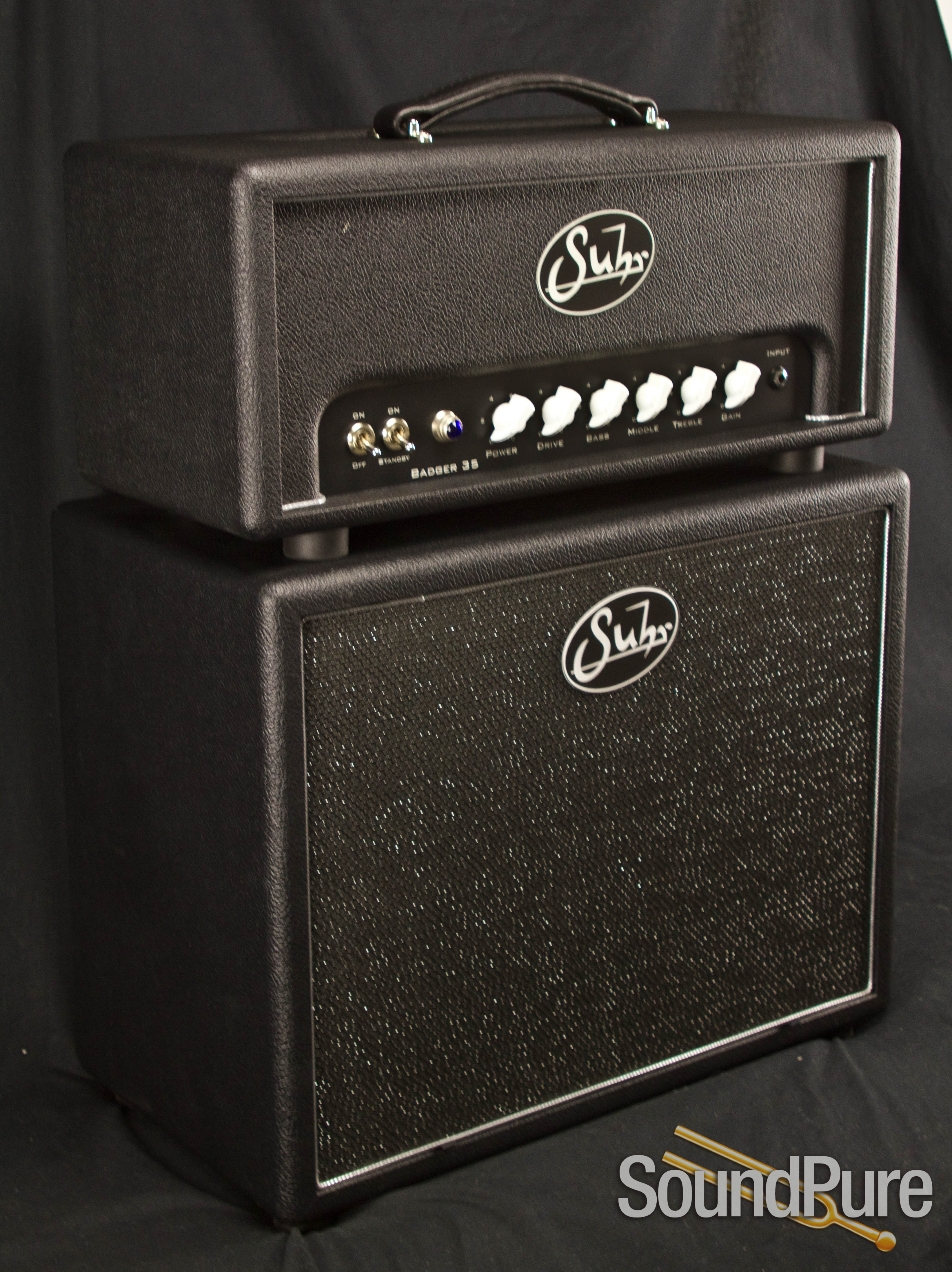 Suhr Badger 35 Amp Head With 112 Cabinet In Yin Yang Black
