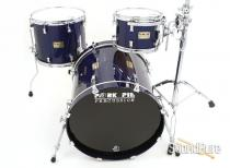 Pork Pie 3pc Sapphire Blue Sparkle Lacquer Maple Drum