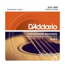 D'Addario EJ42 Phosphor Bronze Medium Resophonic Strings