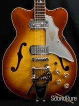 Kay Vintage ReIssue Jazz II Iced Tea Burst Guitar