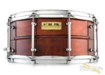 Pork Pie 6.5x14 Pork Rub Metal Brass Snare Drum