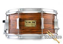 Pork Pie 6.5x13 Maple w/Rings Snare Drum Orange Oyster