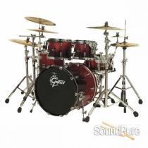 Gretsch 4pc Renown Maple Euro Drum Set-Ruby Sparkle Fade