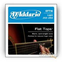 D'Addario EFT16 Light 12-53 Flattop Acoustic Guitar Strings