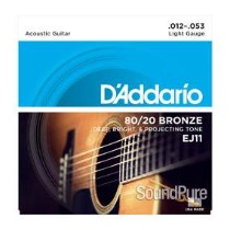 D'Addario EJ11 80/20 Bronze Light 12-53 Acoustic Strings