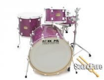 Pork Pie 4pc Purple Glass Glitter/White Hardware Drum Set