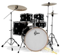 Gretsch Energy 5pc Drum Set w/ Hardware & Cymbals-Black