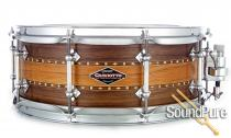 Craviotto 5.5x14 Stacked Solid Walnut/Mahogany Snare Drum